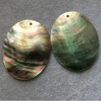 "Кулоны из черного перламутра ""Овал"" (10 шт.) (294), 40х50 мм"