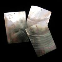 """Кулоны из черного перламутра """"Прямоугольник"""" (10 шт.) (312), 33х47 мм"""