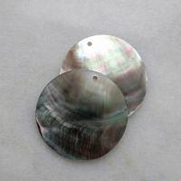 """Подвески из черного перламутра """"Круг"""" (10 шт.) (286), 40 мм"""