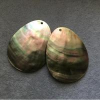 """Кулон из черного перламутра """"Капля"""" (10 шт.) (300) 42х55 мм"""
