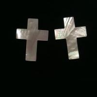 """Вставка """"Крест"""" 30х40 мм из жемчужницы"""